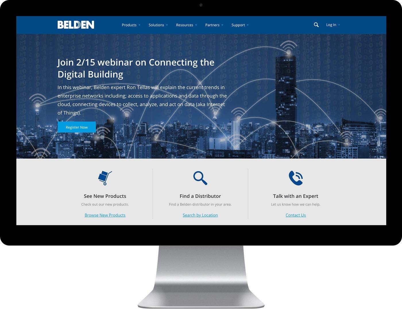 Belden's custom home page design
