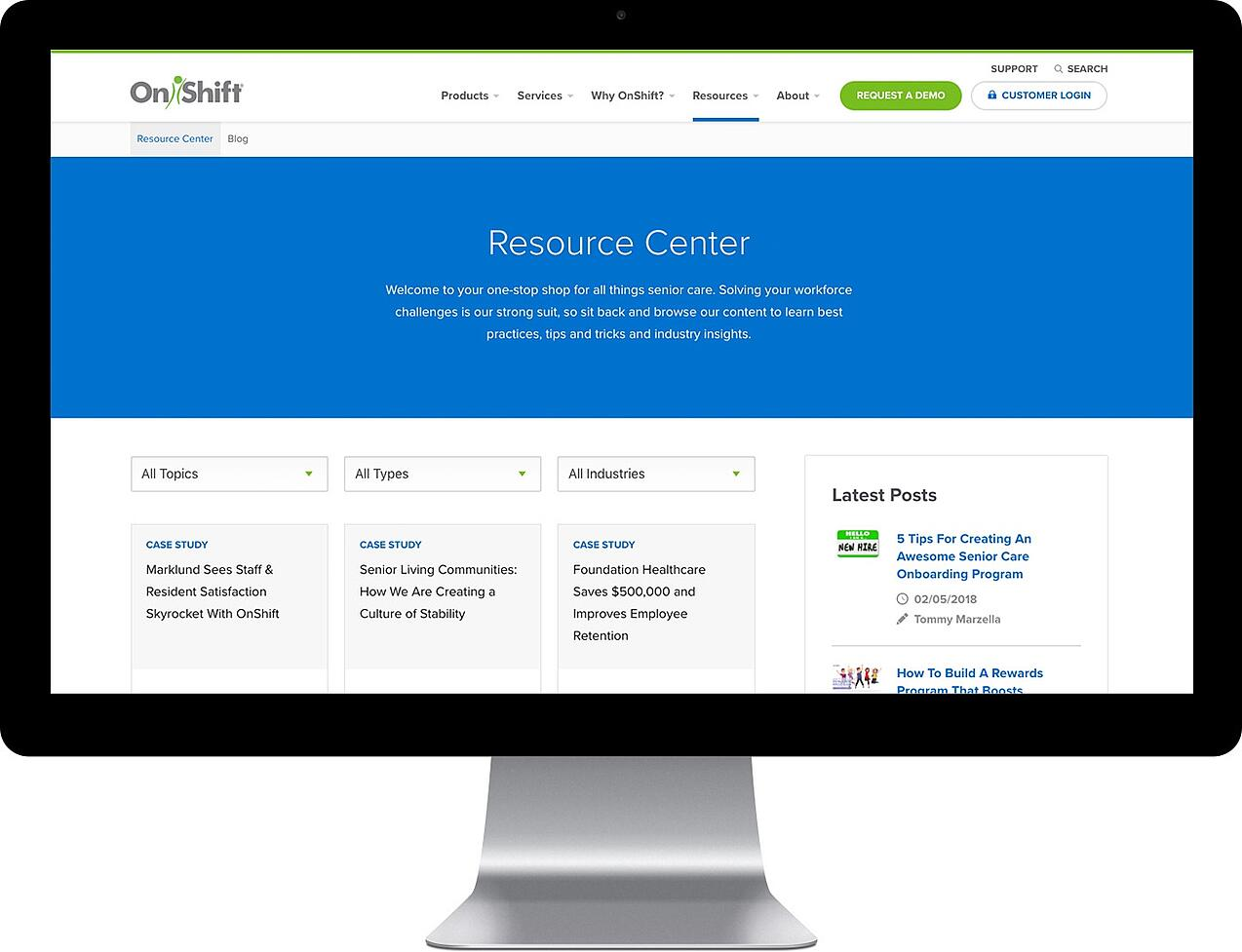 OnShift resource center