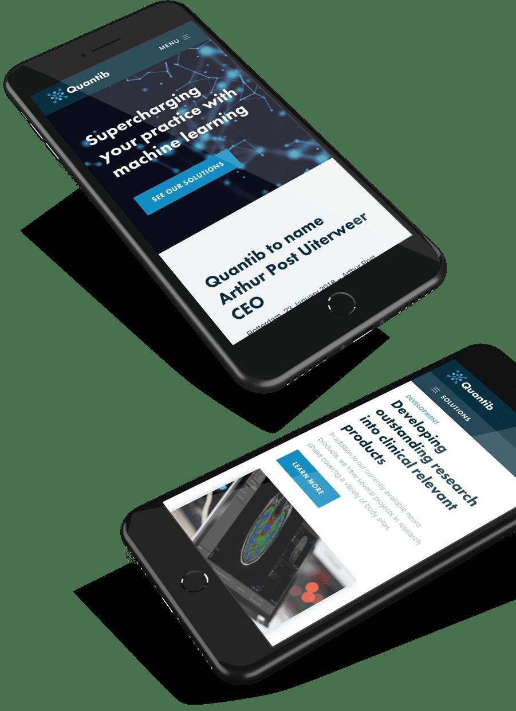 Quantib mobile responsive design