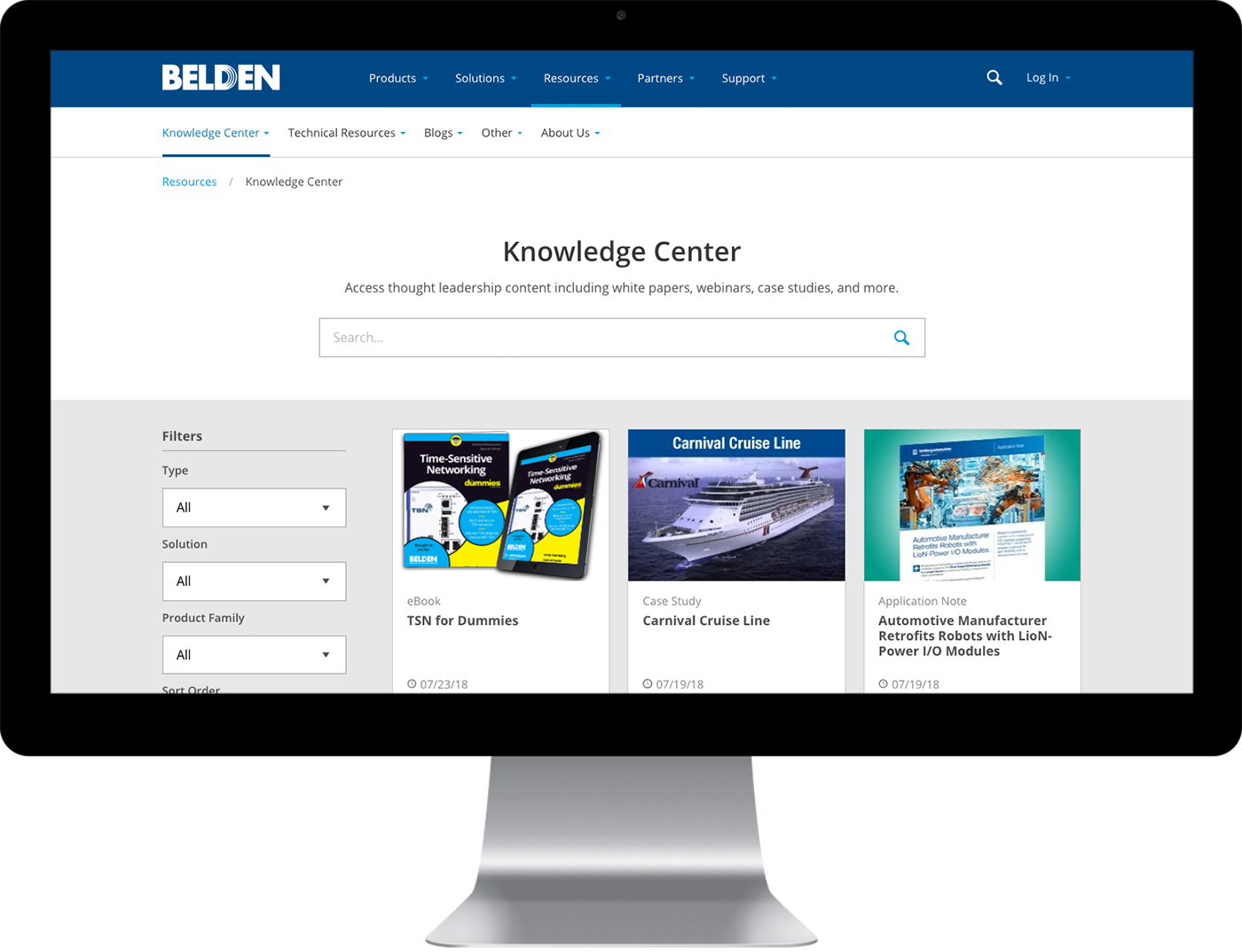 Belden's custom knowledge center design