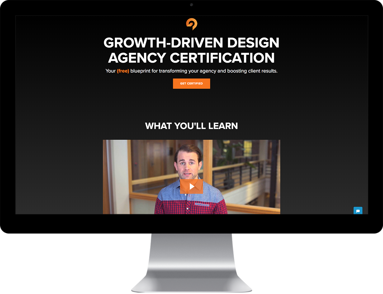 growth driven design website on desktop