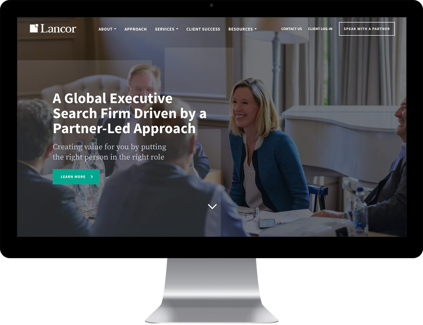 Lancor home page design