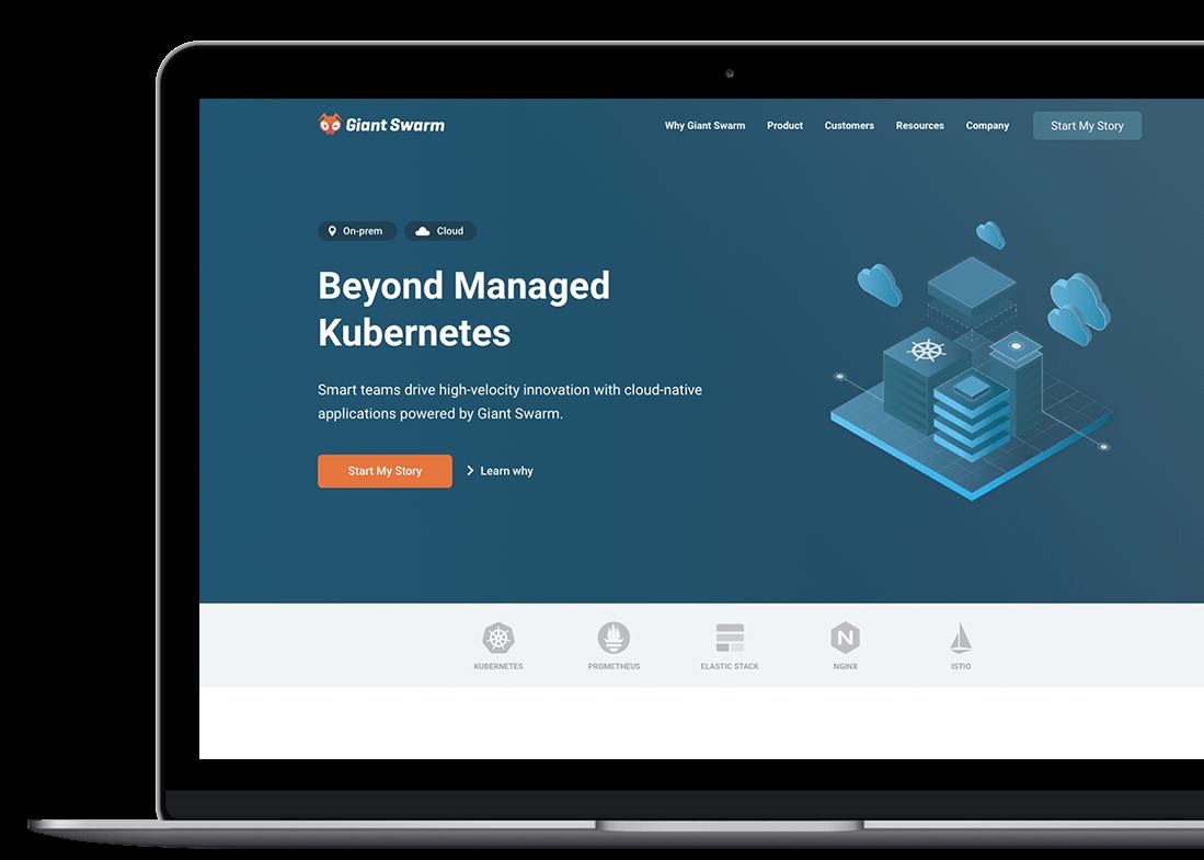 giantswarm-custom-website-design-laptop