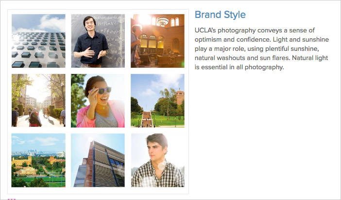 UCLA's imagery guidelines and brand style.