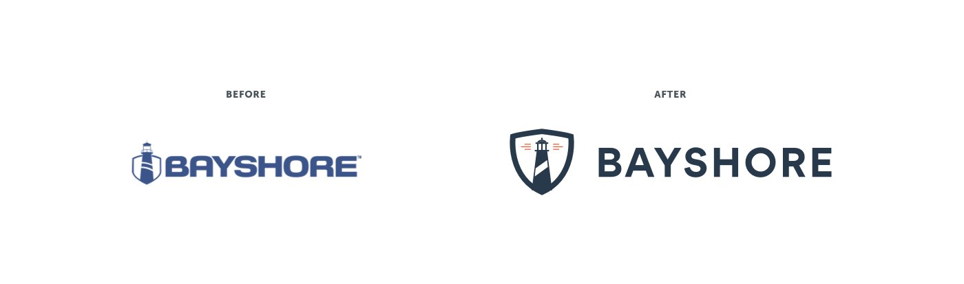 bayshore logo redesign before after