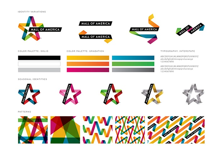 Brand guidelines for Mall of America