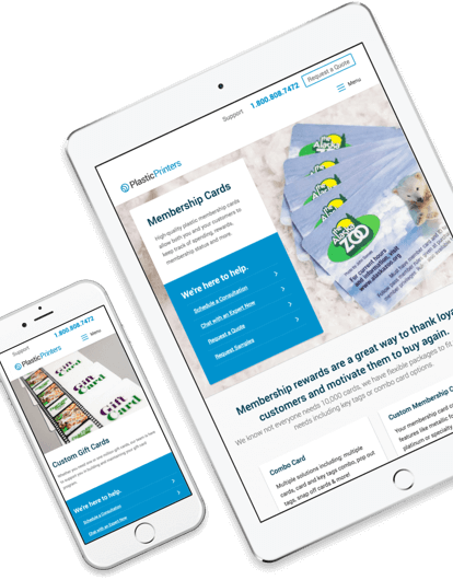 Another Example of the Responsive Website Design for Plastic Printers Inc.