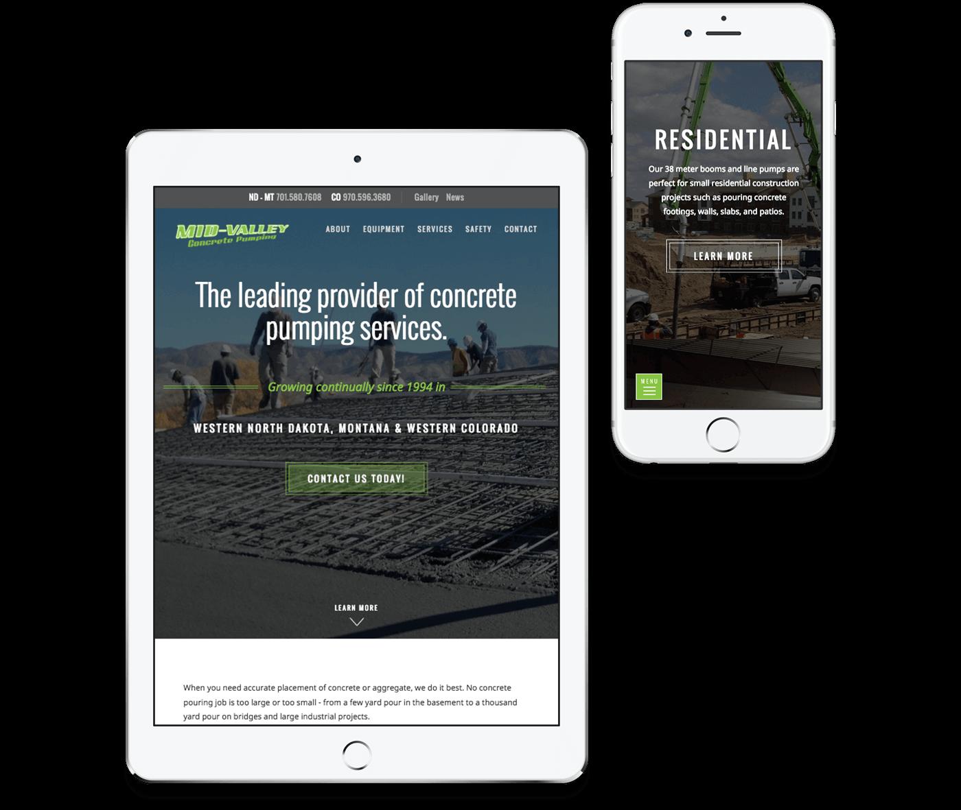 Custom WordPress Design & Development | Mid Valley Concrete