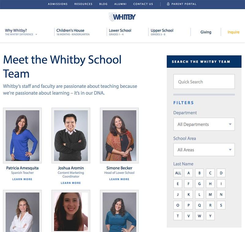 Meet the Whitby School Team