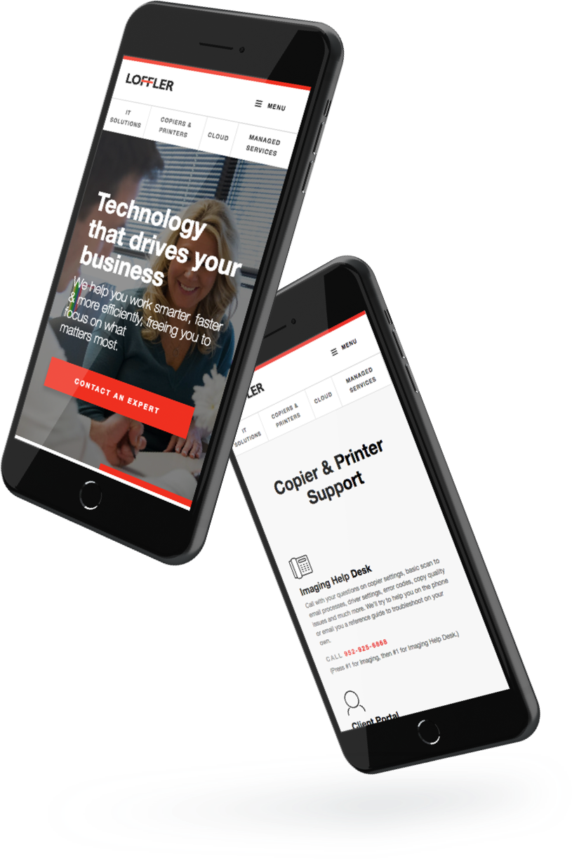 Loffler Companies mobile responsive website design