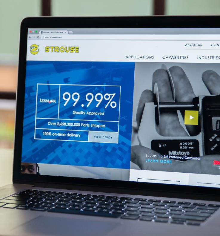 Desktop View of Strouse Website