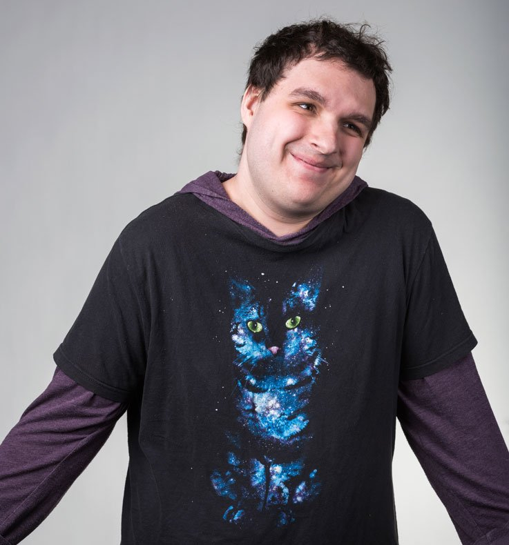 Will our front-end developer who is wearing a very cute cat shirt that he loves.