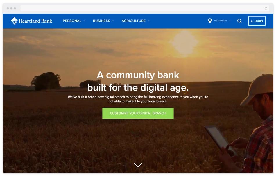 Heartland Bank Website Redesign