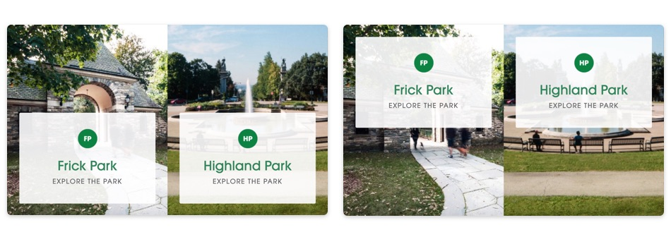 A example of A/B testing on Pittsburgh Parks