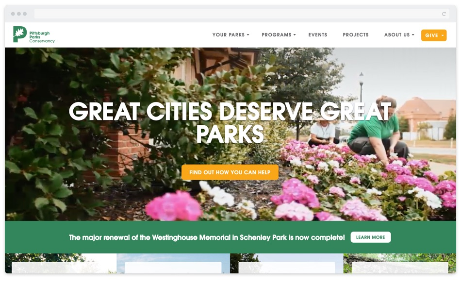 Pittsburgh Parks Conservancy Website Redesign