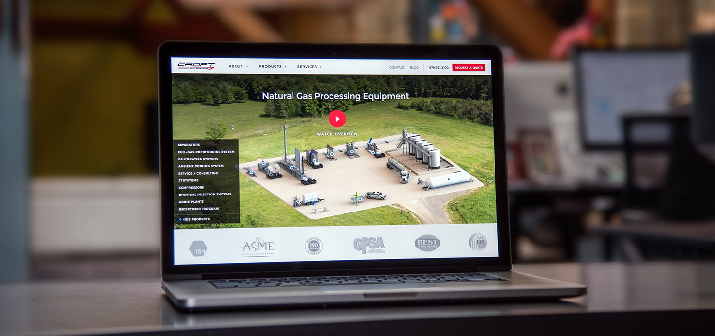 Croft Production Systems Website Redesign