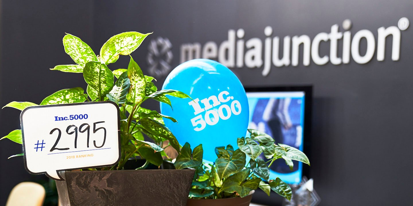 media junction® Recognized in the Inc. 5000 Fastest Growing Private Companies in America